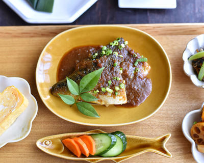 レンジで鯖の胡麻みそ煮のレシピ