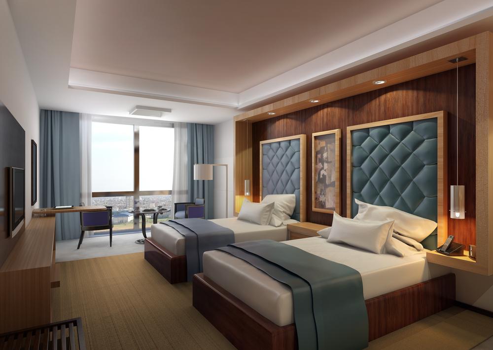 ランクの高いホテルの部屋