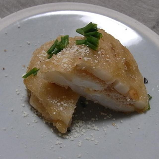 明太クリーミーチーズのレンコンはさみ揚げのレシピ