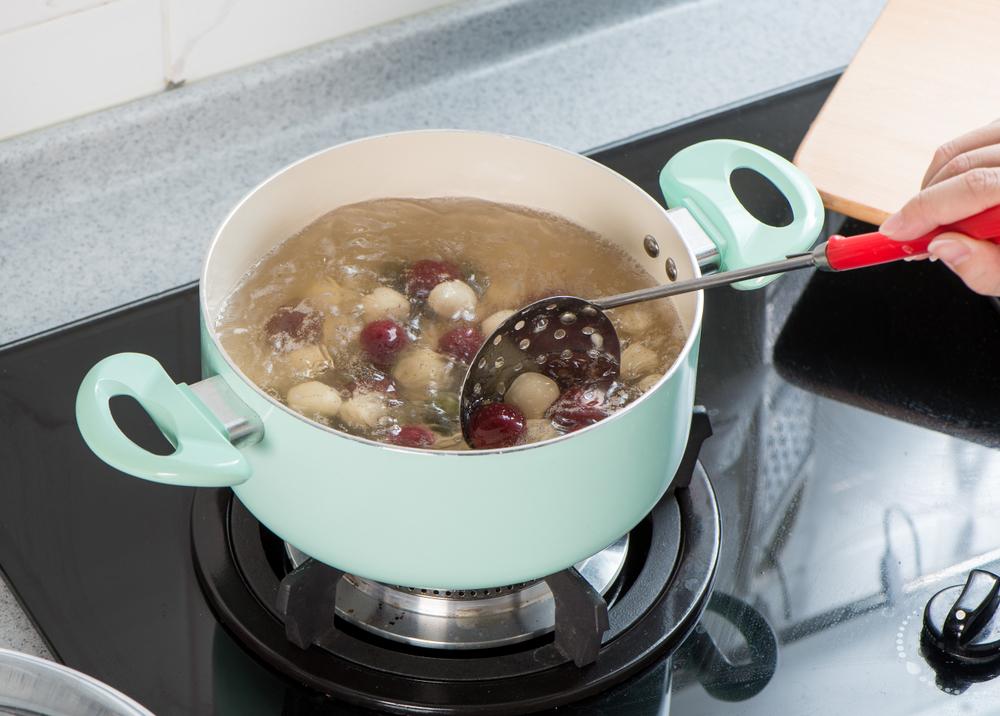 白玉団子の調理