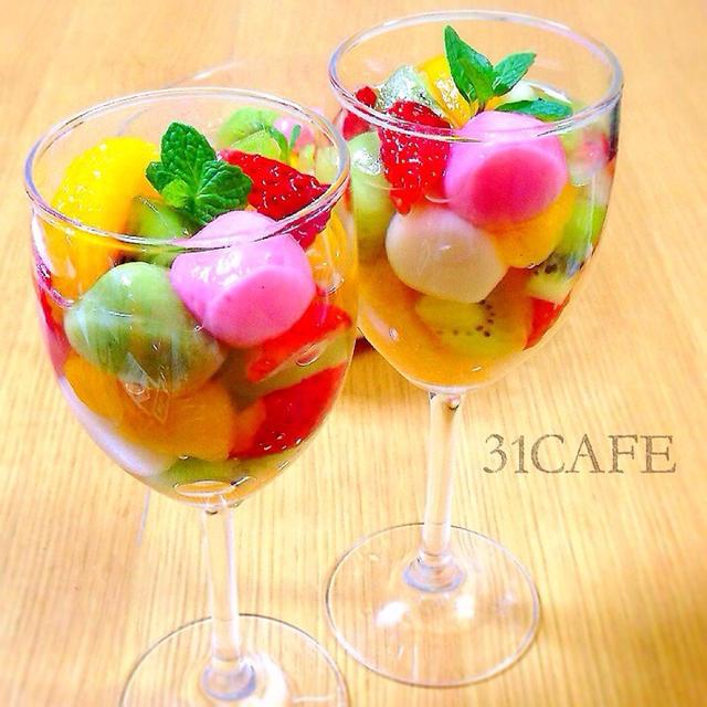 ひな祭りに 宝石箱なフルーツ白玉のレシピ