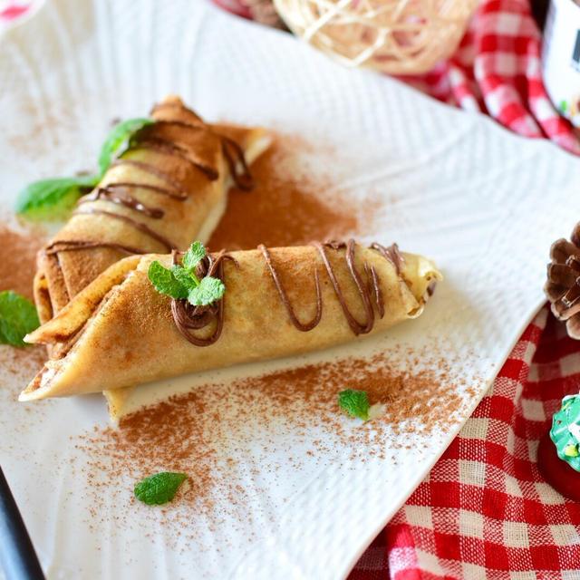 ヌテラとマスカルポーネのもっちり米粉クレープロールのレシピ