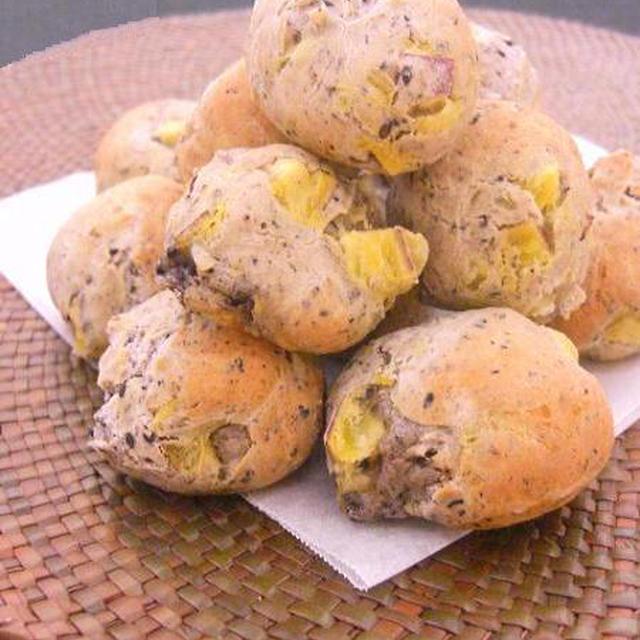 ごま芋のもちもちパンのレシピ