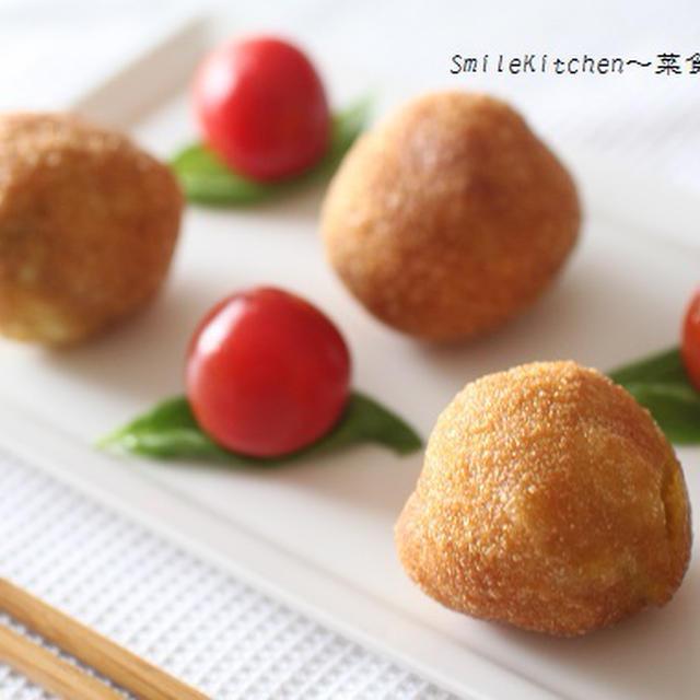 高血圧の方に!!白玉粉を使って、枝豆入りカレー風味じゃがボールのレシピ