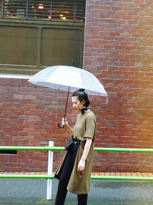 雨の日のコーデ