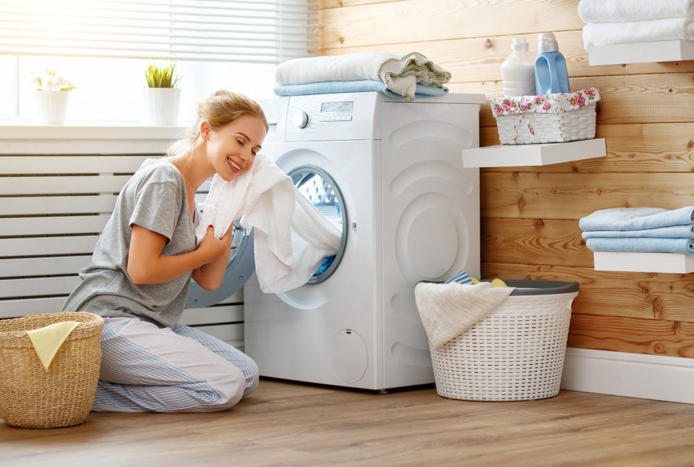 重曹を洗濯に使用した女性