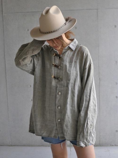 ハット×ビッグシャツ