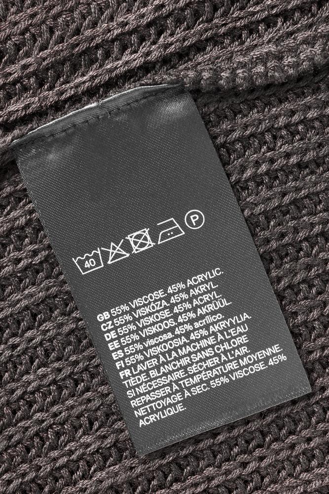 アクリル製品の洗濯表示
