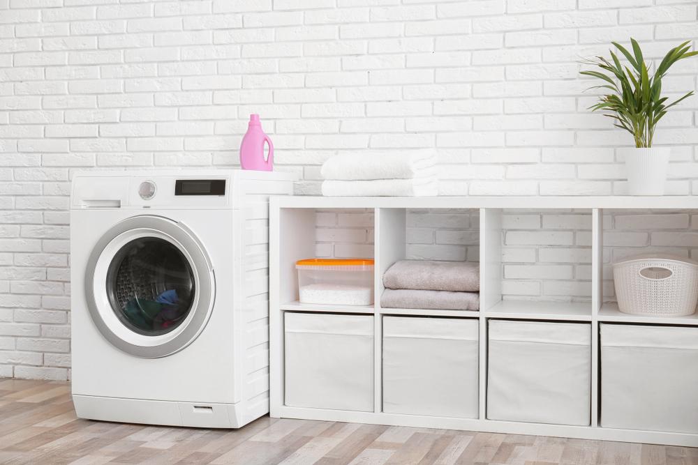 洗濯機と棚