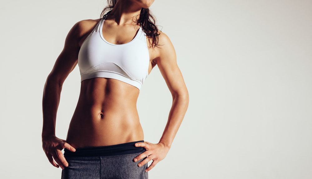 女性の腹筋