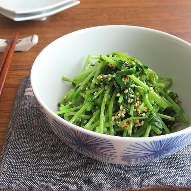 レンジで簡単 豆苗ナムル お弁当やおつまみにのレシピ