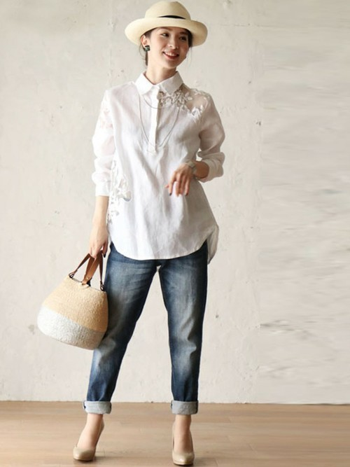 長袖シャツを使った仙台の服装