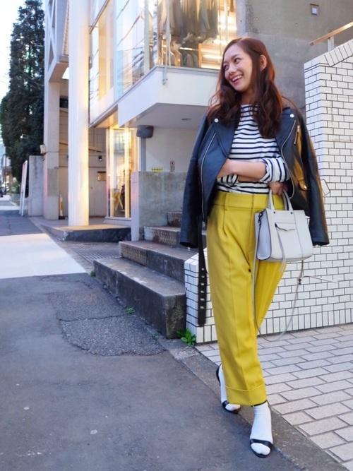 ライダースジャケットを使った仙台の服装