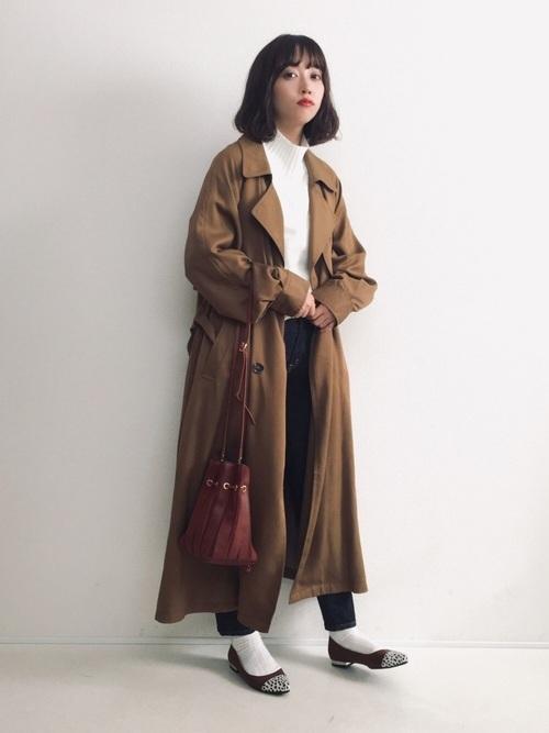 トレンチコートを使った仙台の服装
