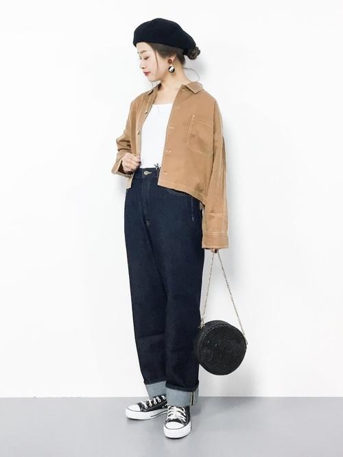 ジャケットを使った梨狩りの服装