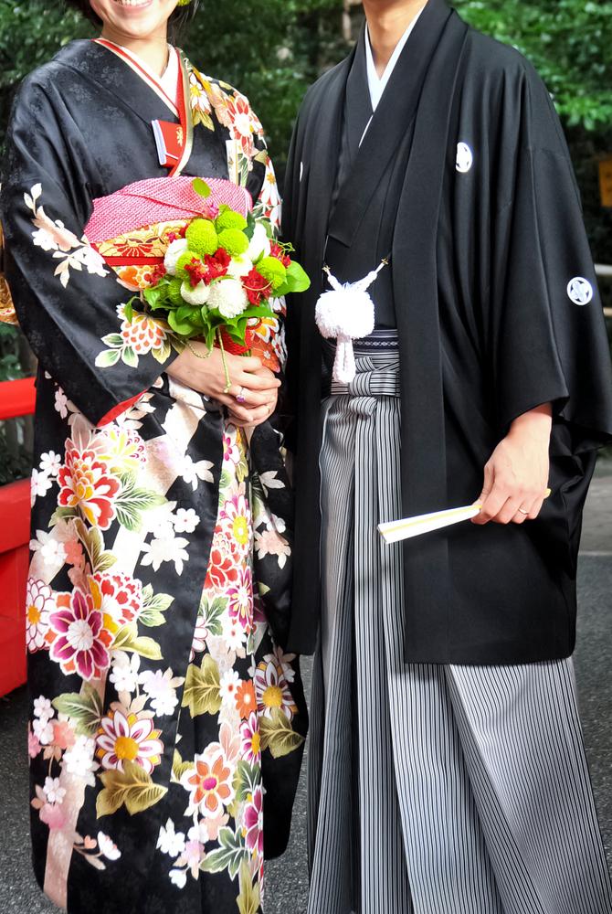 引き振袖での結婚式