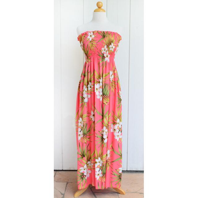 Hale Hawaiian ハワイムームー セミロング・マキシ丈ロングチュニックドレス
