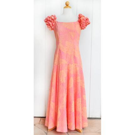 Hale Hawaiian ハワイムームー ラッフルロングドレス