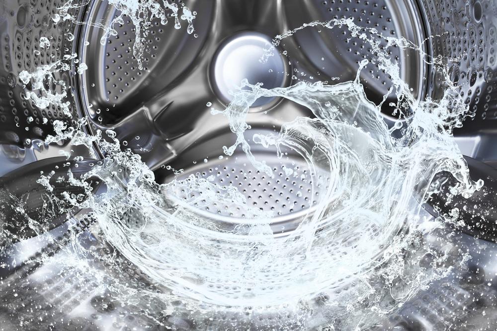 洗濯機の中の水流
