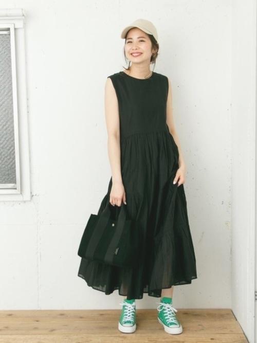 黒ワンピを使ったクロアチアの服装