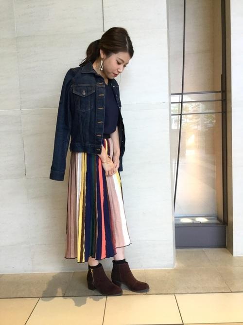 レトロ柄スカート