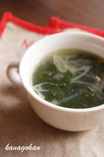 ささみとわかめのスープのレシピ