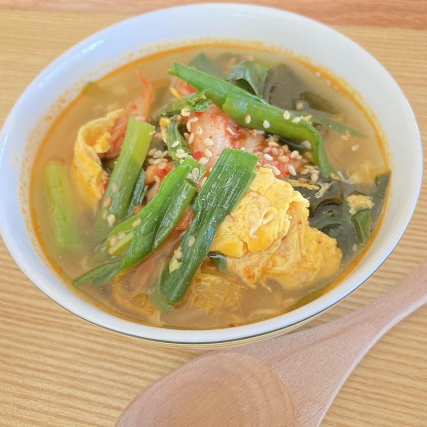 腸活☆痩せ活☆すぐできる☆キムチスープ