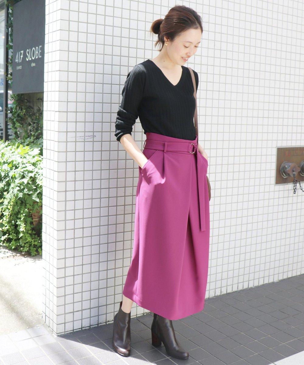 ピンクパープルスカート