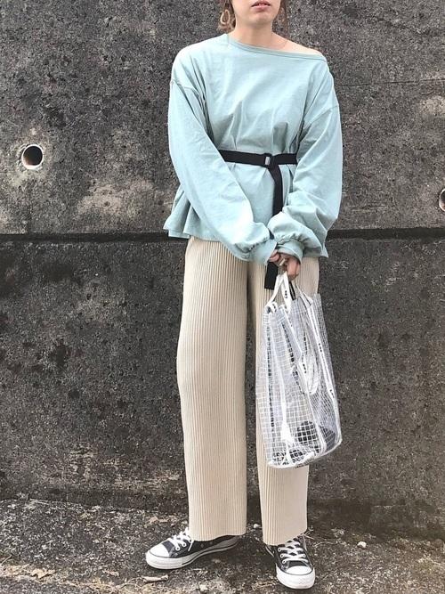 スウェットを使った富山の服装