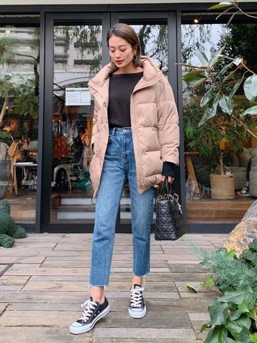 ダウンコートを使った富山の服装