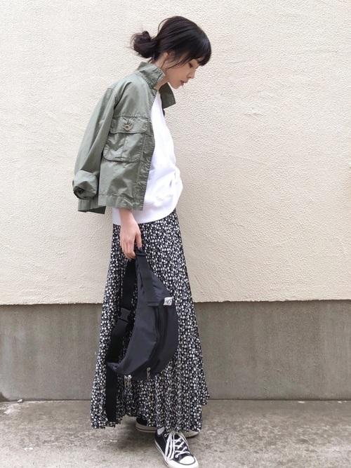 ミリタリージャケットを使った富山の服装
