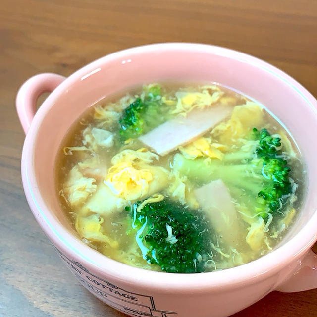 ブロッコリーと卵のスープのレシピ
