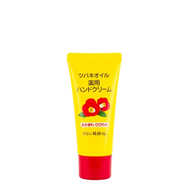 黒ばら純椿油 ツバキオイル 薬用ハンドクリームチューブ