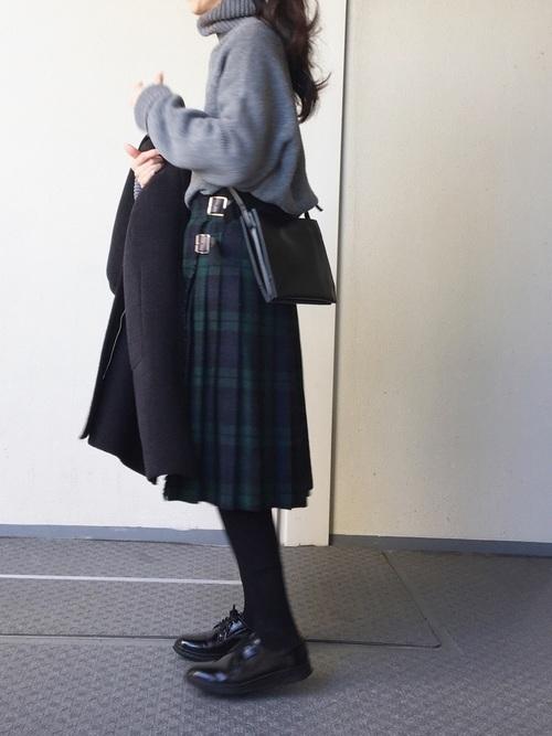 タータンチェック柄のキルトスカート