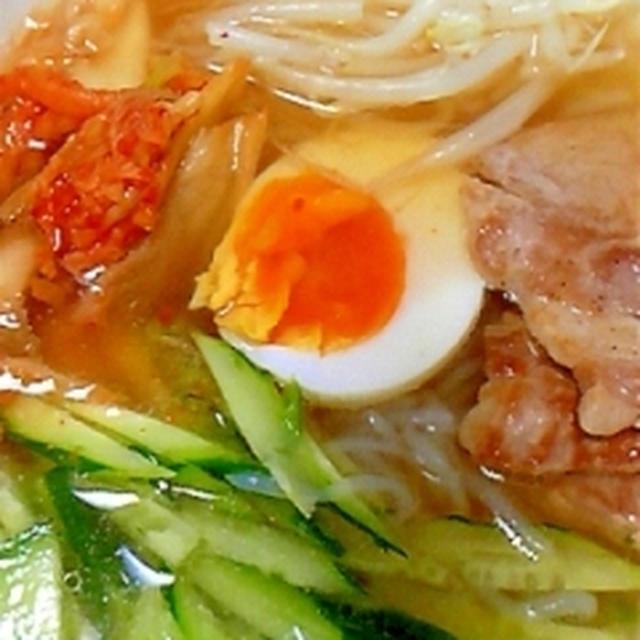 白滝で作る韓国風冷麺