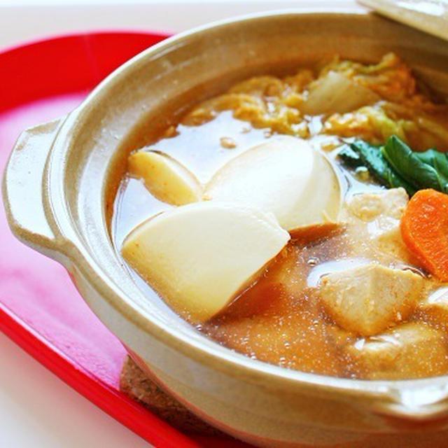 鶏肉と白菜のコチュジャン鍋