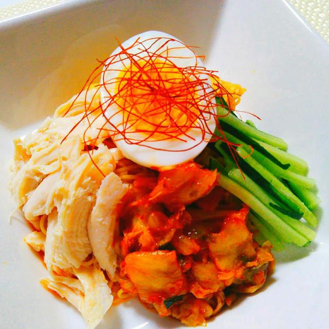 ピリ辛のビビン麺
