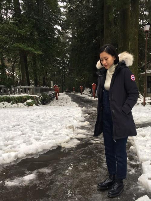 箱根の冬コーデ