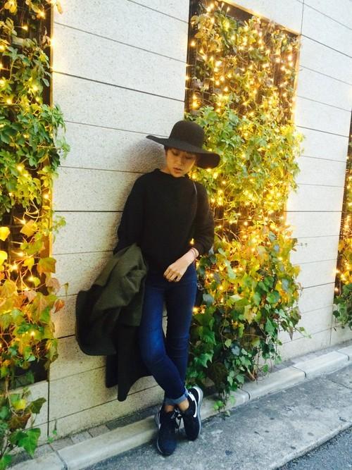福岡旅行の秋コーデ