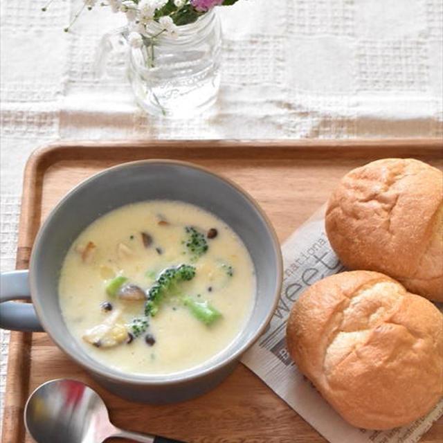 コーンクリーム缶で簡単♪豆乳スープ