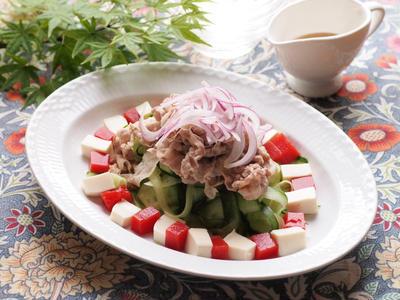 トマト寒天とお豆腐の冷しゃぶサラダのレシピ