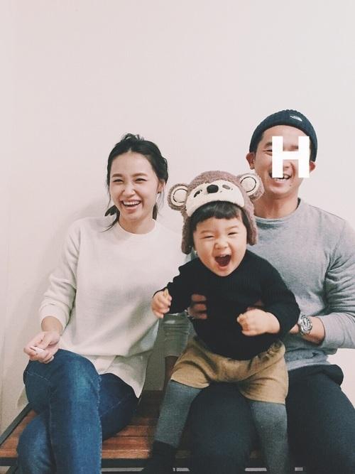 新年の記念の家族写真