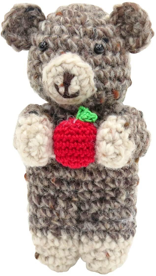 オリムパス製絲 編み物キット メイクメイク くまのクリップ