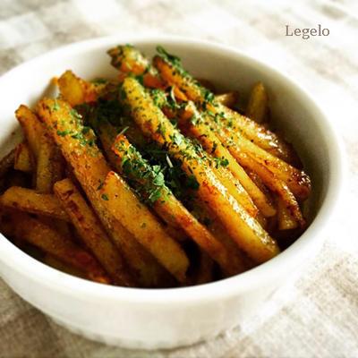 ジャガイモ 和風カレー粉 炒め ☆ 超簡単 おつまみ、あと一品 ♪のレシピ