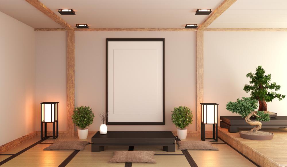 和室と観葉植物