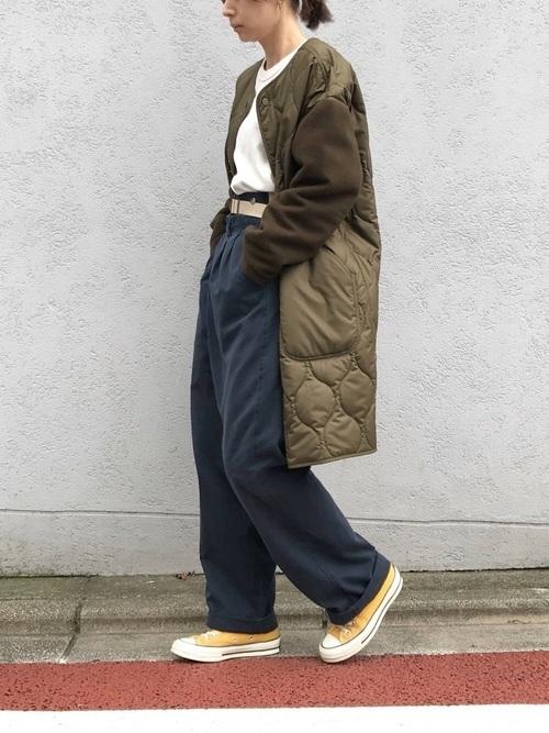 キルティングコートを使ったオーストラリアの服装