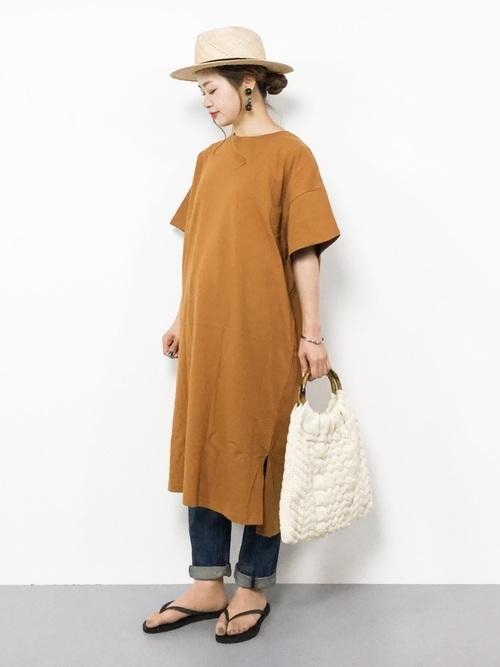 Tシャツワンピを使ったオーストラリアの服装