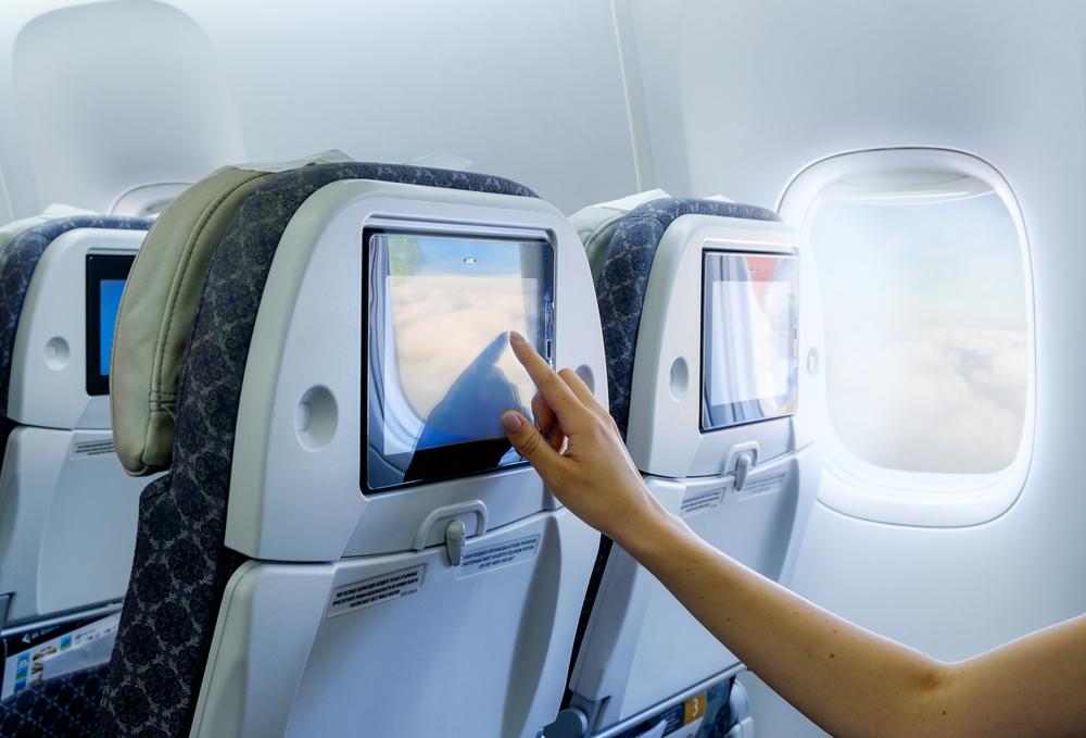 飛行機内のパネル