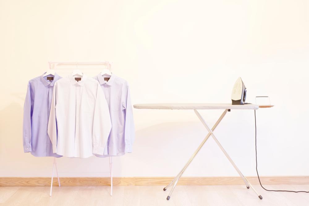 ワイシャツとアイロン