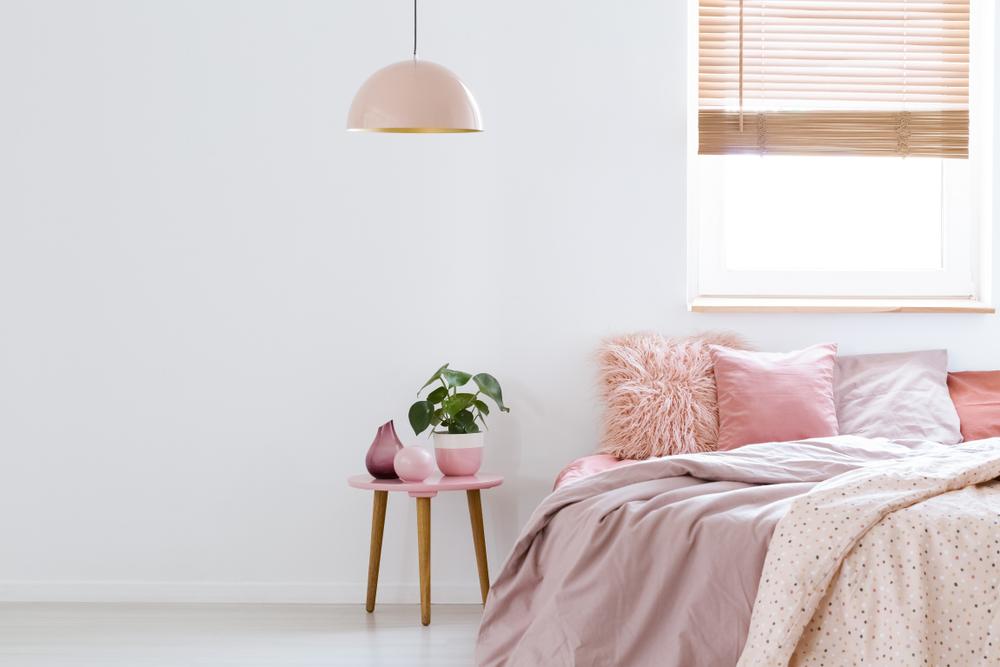 ピンクを取り入れた部屋